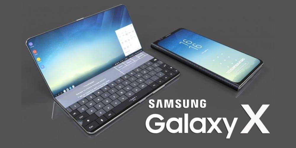 Smartphone Samsung pliable